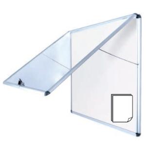 Diario Mural Bisilque Vitrina Vertical Magnética Aluminio 92,4X95,3cm c/Llave