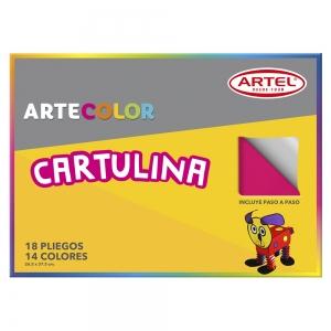 Carpeta Cartulina 14 colores Artel 18hjs