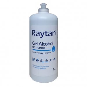 "Alcohol Gel Raytan 1 Lt	<font color=""red""; size= ""2""><sup> (Disponible desde III - VIII Region )<sup></font>"