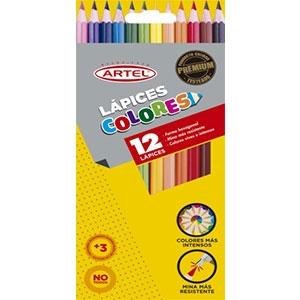 Lápices de Colores Artel Largo 12 Unidades